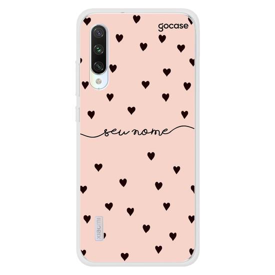 Capinha para celular Black Hearts Rosê Manuscrita