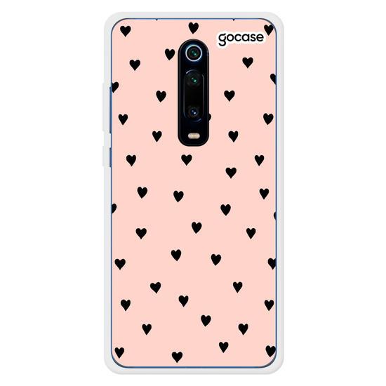 Capinha para celular Black Hearts Rosê