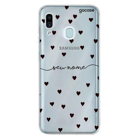 Capinha para celular Black Hearts Manuscrita