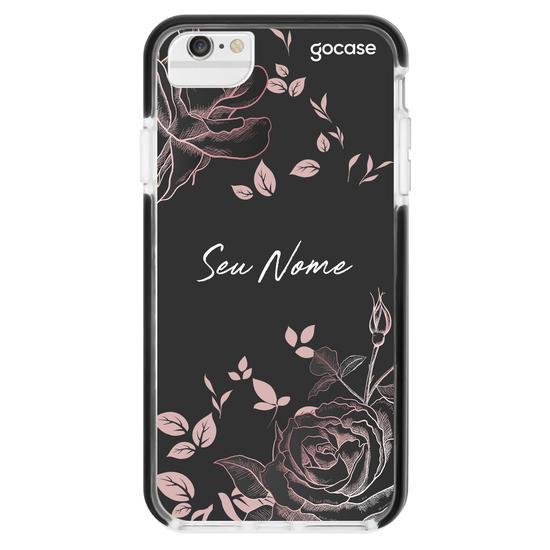 Capinha para celular Black Rosé Personalizada