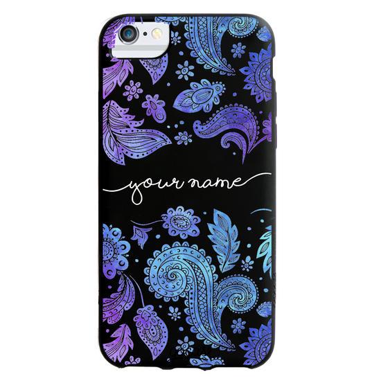 Black Case  Purple Handwritten Phone Case