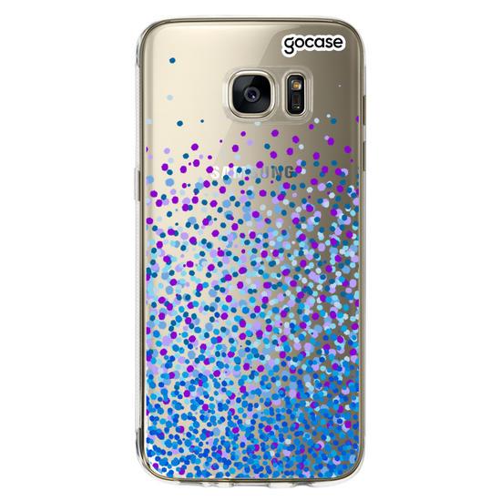 Capinha para celular Blue Dots