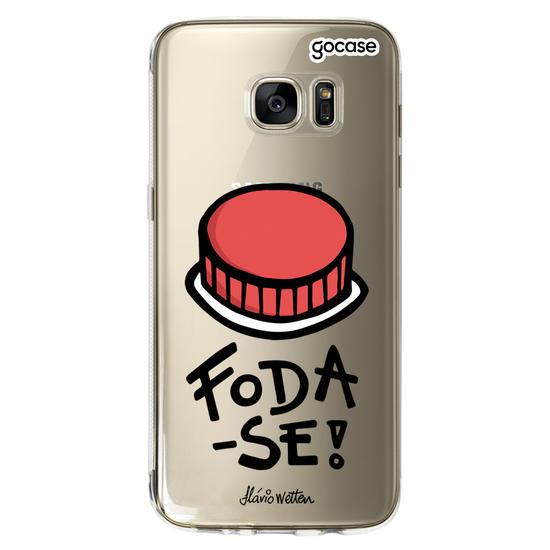 Capinha para celular Botão de Foda-se