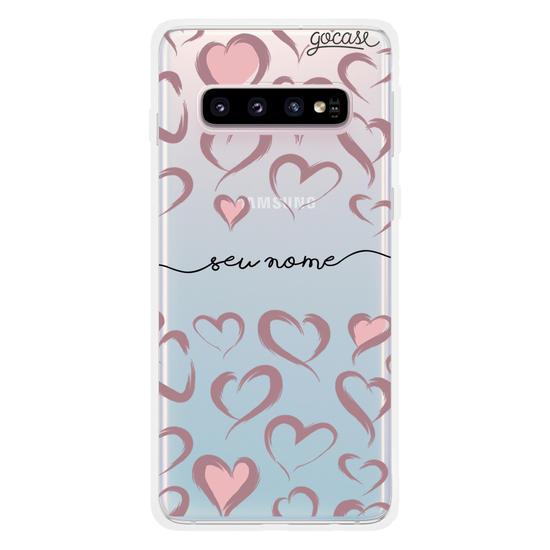 Capinha para celular Brush Hearts Manuscrita