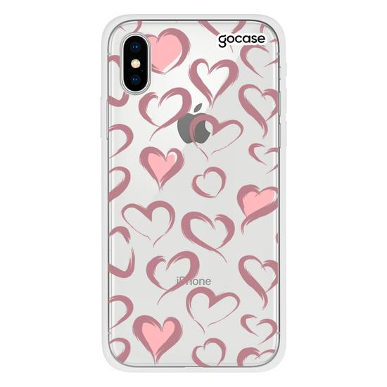 Capinha para celular Brush Hearts