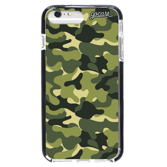 Capinha para celular Camuflagem Militar Vertical