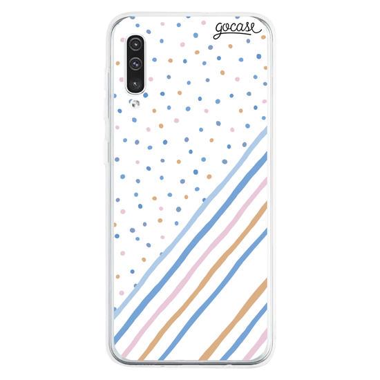 Capinha para celular Candy Dots Personalizável