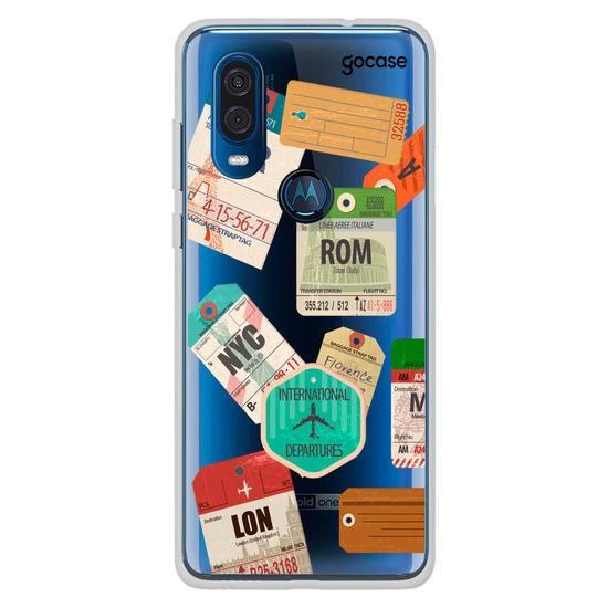 Capinha para celular Carimbos de Viagem