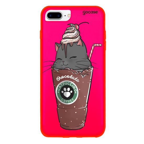 Capinha para celular Catpuccino
