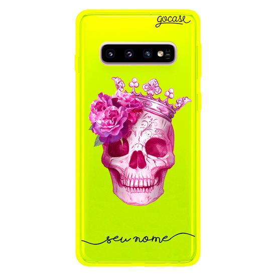 Capinha para celular Caveira Pink