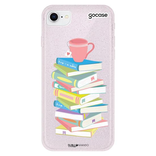 Capinha para celular Chá e Livros