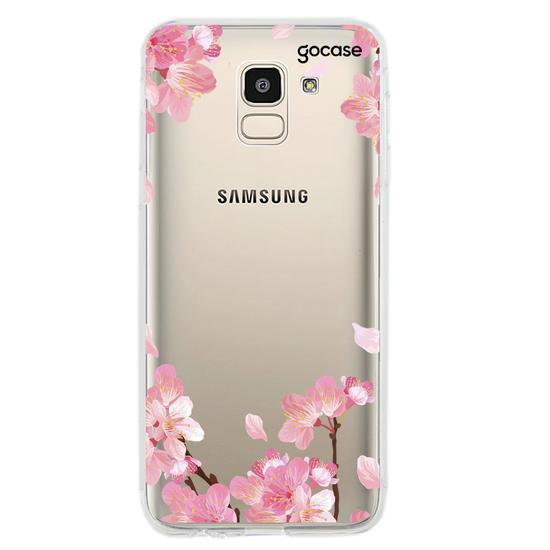 Capinha para celular Cherry Garden Inicial Glitter
