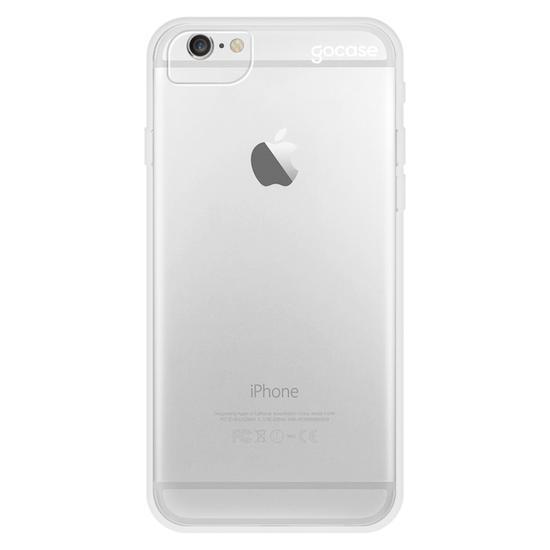 Capinha para celular Clear Logo White