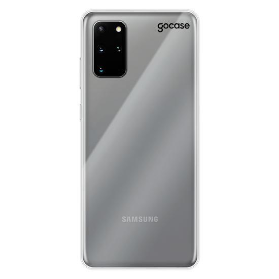 Capinha para celular Clear Logo Black