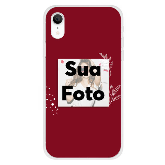 Capinha para celular Color Picture Red
