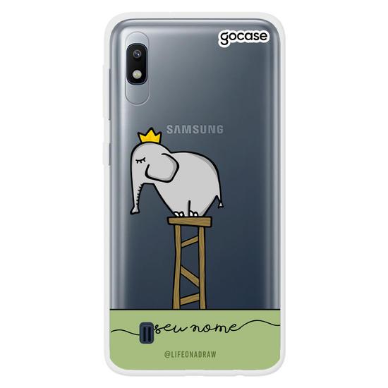 Capinha para celular Com amor, Elefante