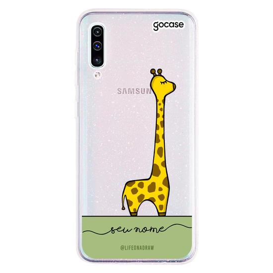 Capinha para celular Com amor, Girafa