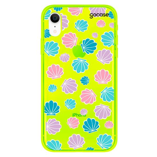 Capinha para celular Conchas Coloridas