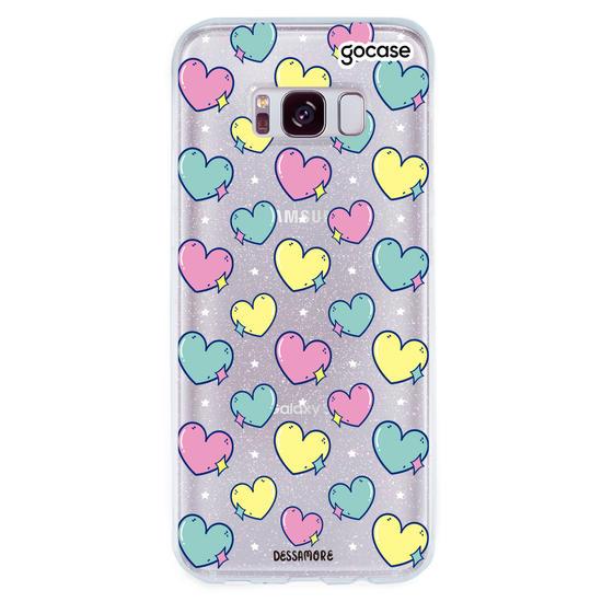 Capinha para celular Coração Brilho