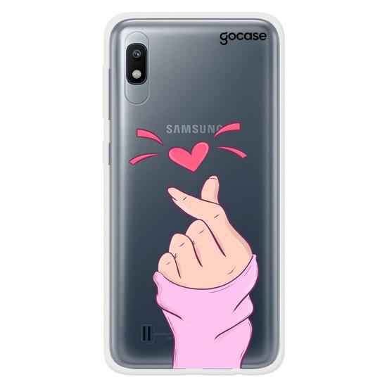 Capinha para celular Coração com uma mão