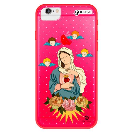 Capinha para celular Coração de Maria