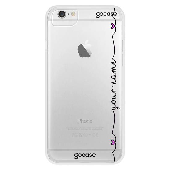 Hearts with Name Vertical Phone Case