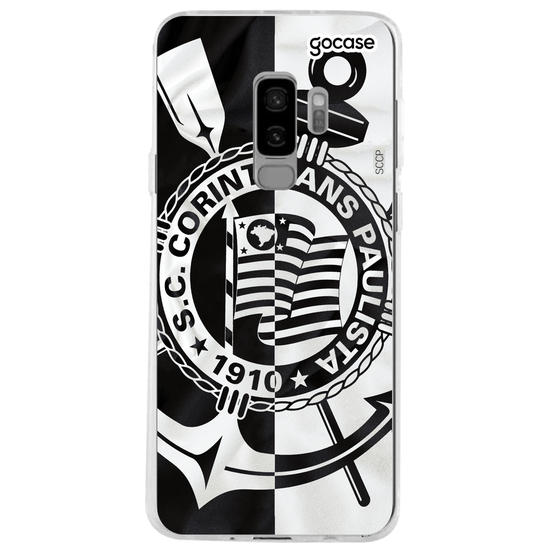 Capinha para celular Corinthians - Black and White