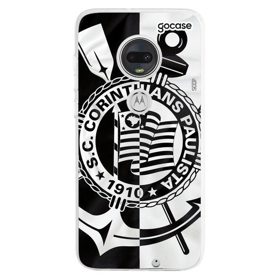 Capinha para celular Corinthians - Black and White