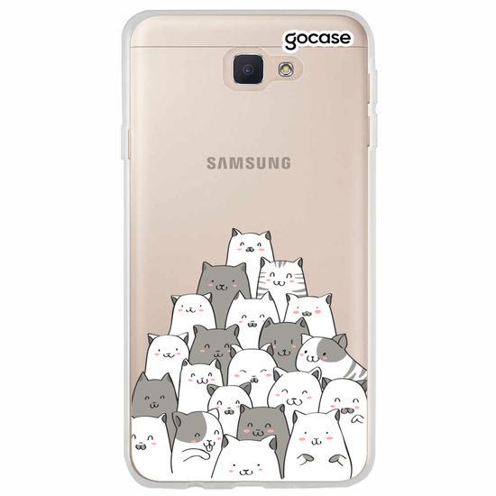 Capinha para celular Xadrez de Gatos