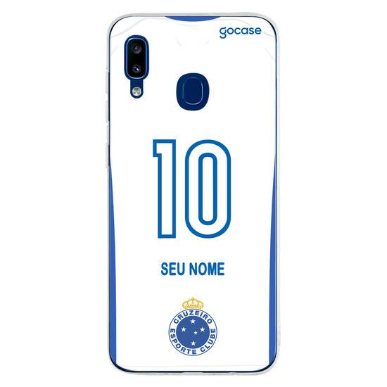 Capinha para celular Cruzeiro - Uniforme 2 2020 Costas
