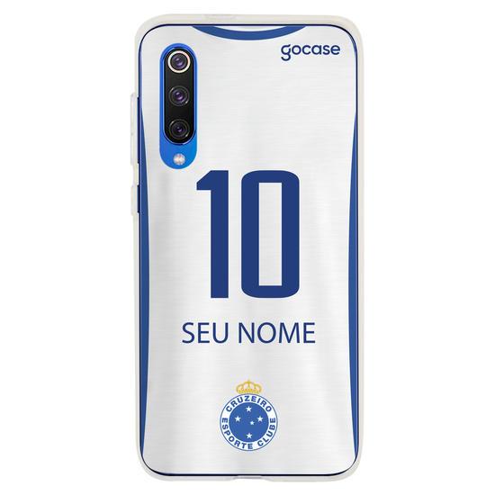 Capinha para celular Cruzeiro - Uniforme Branco Personalizado