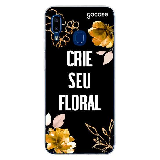 Capinha para celular Floral Dourado