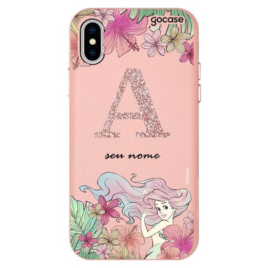 Capinha para celular Fascino - Disney - Inicial Glitter Ariel