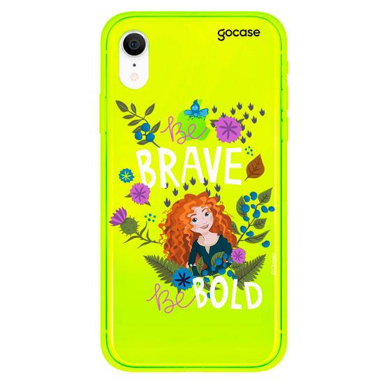 Capinha para celular Disney - Be brave be bold clean