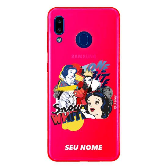 Capinha para celular Disney - Branca de Neve Color Black Pop Art
