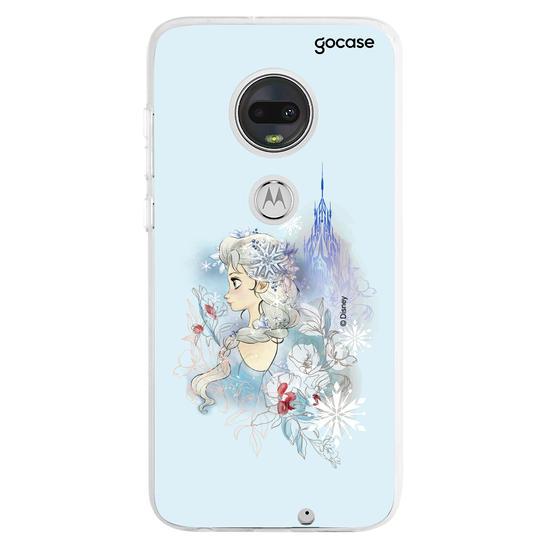 Capinha para celular Disney - Elsa - Jardim de inverno