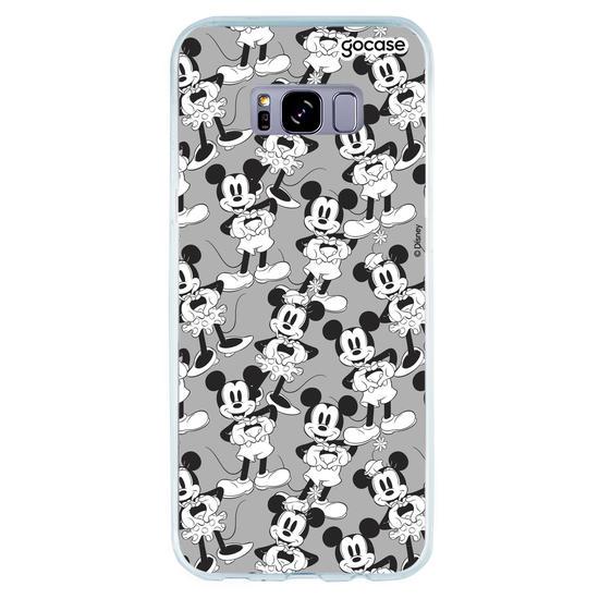 Capinha para celular Disney - Love Black and White