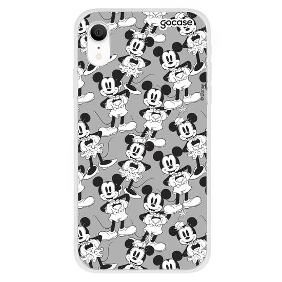 Capinha para celular Disney - Love Black and White