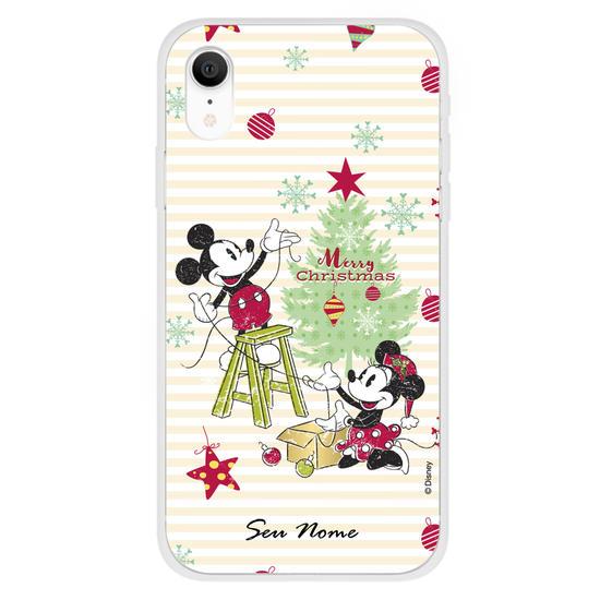 Capinha para celular Disney - Mickey e Minnie Natal