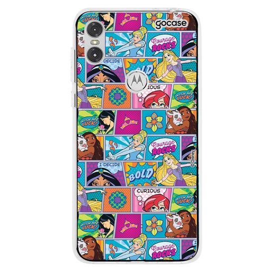 Capinha para celular Disney - Pop Art Comic - Princess