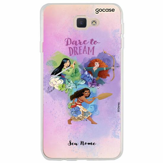 Capinha para celular Disney - Watercolor Dare To Dream