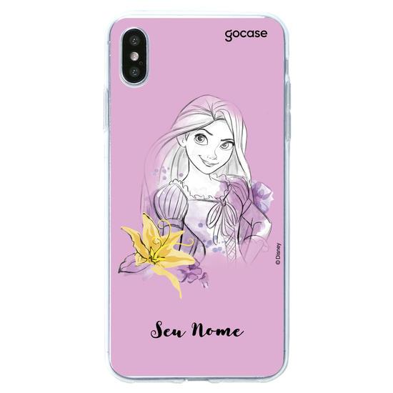 Capinha para celular Disney - Watercolor Rapunzel
