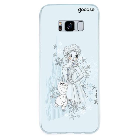 Capinha para celular Disney - Elsa Lineart