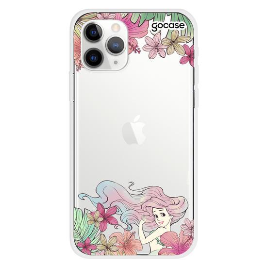 Capinha para celular Disney - Inicial Glitter Ariel