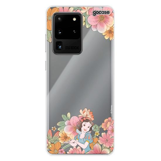 Capinha para celular Disney - Inicial Glitter Branca de Neve