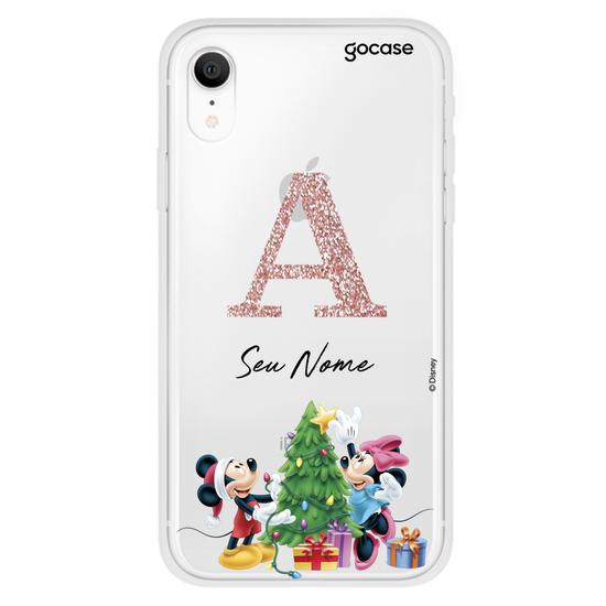 Capinha para celular Disney - Inicial Glitter Natal