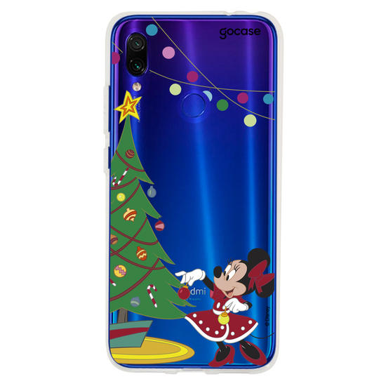 Capinha para celular Disney - Minnie Árvore de Natal