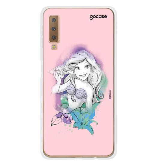 Capinha para celular Disney - Watercolor - Ariel