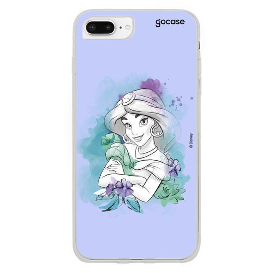 Capinha para celular Disney - Watercolor - Jasmine