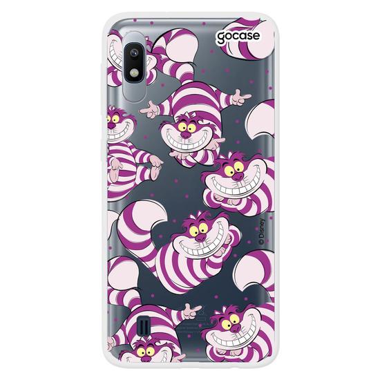Capinha para celular Disney - Alice - Gato de Cheshire Patches